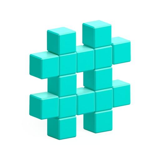 Turquoise hashtag