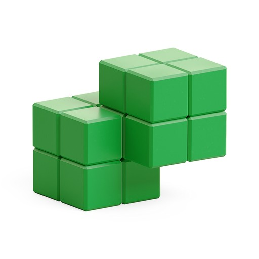 Green cube in cube